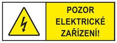 Pozor elektrické zařizení