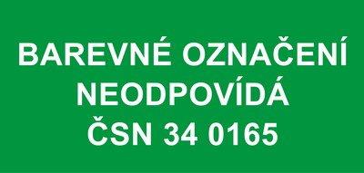 Barevné označení neodpovídá ČSN 34 0165