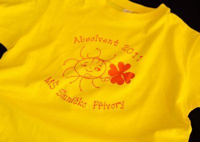 Potisk absolventských triček pro školáky